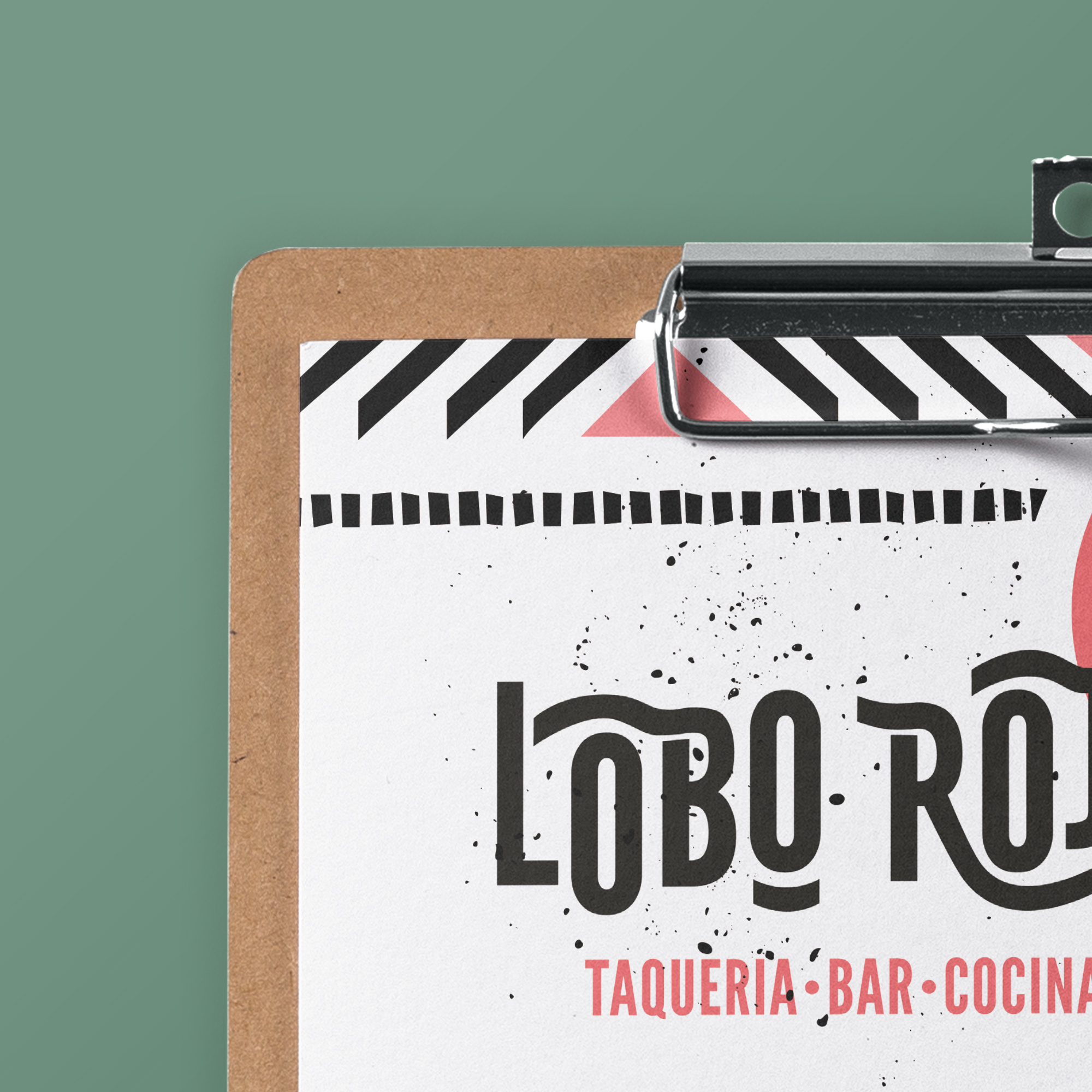 LoboRojo Mexican Restaurant Menu Design